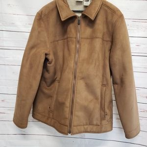 L.L.Bean men's Faux fur coat brown tan classic xl